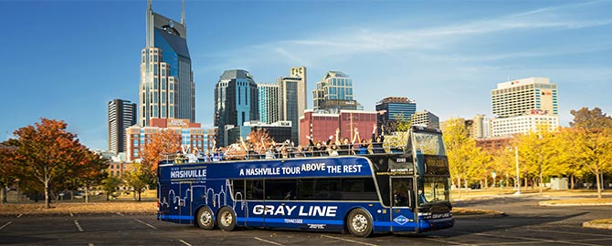 gray line music city hop-on hop-off bus tour 2021 info and