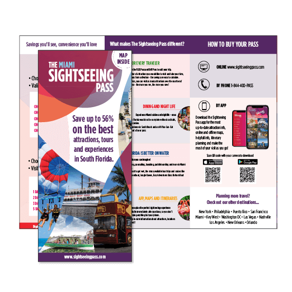 Sightseeing Pass leaflet