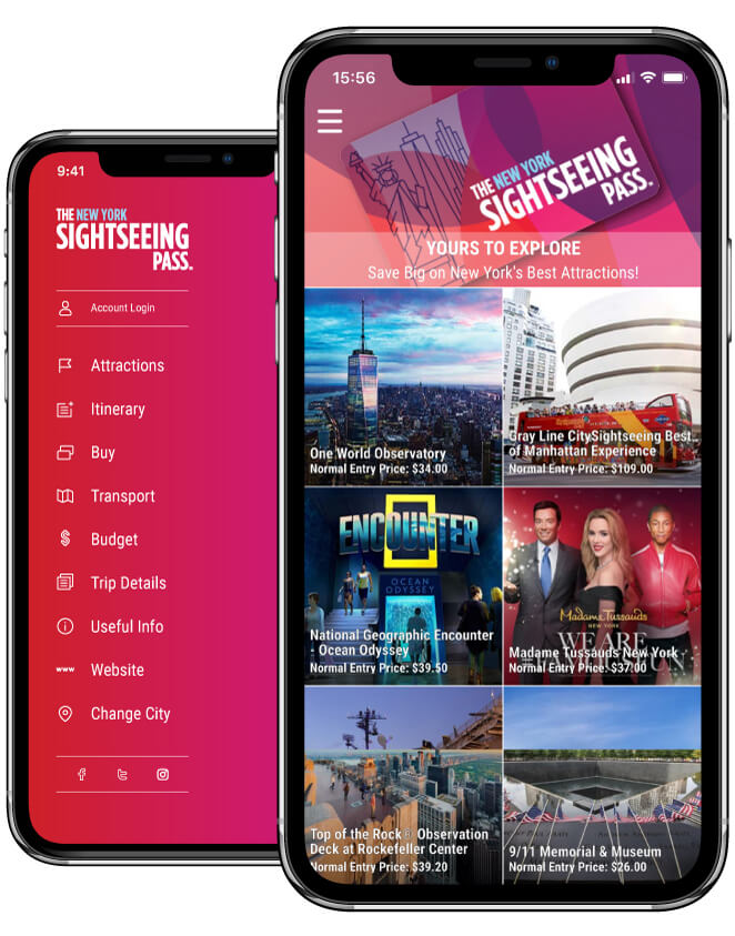 Sightseeing Pass app